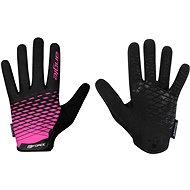 Force MTB ANGLE, Pink-Black - Cycling Gloves