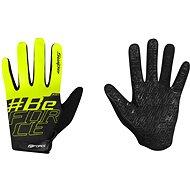 Cyklistické rukavice Force KID MTB SWIPE, černo-fluo