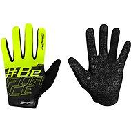 Cyklistické rukavice Force MTB SWIPE, černo-fluo