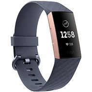 Fitbit Charge 3 Blue Grey / Rose-Gold Aluminium - Fitness náramek
