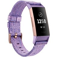 Fitbit Charge 3 Lavender Woven / Rose-Gold Aluminium - Fitness náramek