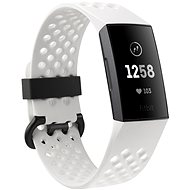 Fitbit Charge 3 Frost White Sport / Graphite ALuminium - Fitness náramek