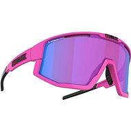 Cyklistické brýle Bliz FUSION NANO OPTICS Matt Neon Pink Nordic Light Begonia - Violet w Blue Multi Cat.2