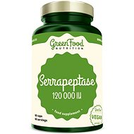 GreenFood Nutrition Serrapeptase 120000IU, 60 Capsules - Superfood
