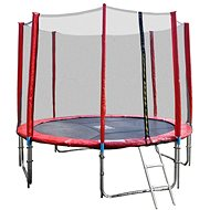 GoodJump 4UPVC red trampoline 305 cm with protective net + ladder - Trampoline