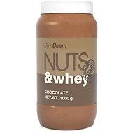 GymBeam Proteínové arašídové máslo Nuts&Whey čokoláda 1000g