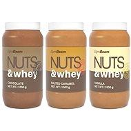 GymBeam Proteínové arašídové máslo Nuts&Whey 1000g - Máslo