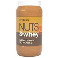 GymBeam Proteínové arašídové máslo Nuts&Whey slaný karamel 1000g - Máslo