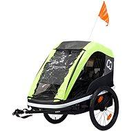 Hamax Avenida Twin lime - Vozík za kolo