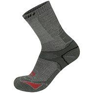 Hannah Walk šedé/červené - Ponožky