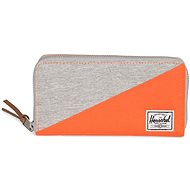 Herschel Thomas RFID Lifght Grey Crosshatch/Vermillion Orange - Peněženka