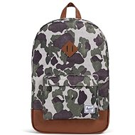 Herschel Heritage Frog Camo/Tan Synthetic Leather - Batoh