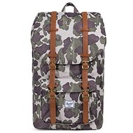 Herschel Little America Frog Camo/Tan Synthetic Leather - Batoh