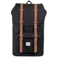 Herschel Little America Black/Tan Synthetic Leather - Batoh
