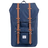 Herschel Little America Navy/Tan Synthetic Leather - Batoh