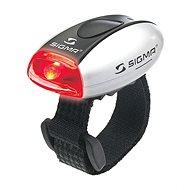Sigma Micro stříbrná / zadní světlo LED-červená - Světlo na kolo