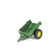 Vlečka za traktor 1osá - tmavozelená - Šlapací traktor