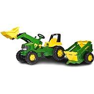 Rolly Junior John Deere s nakladačem a vlekem - Šlapací traktor