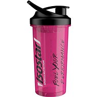 Isostar 700ml shaker, růžový - Shaker