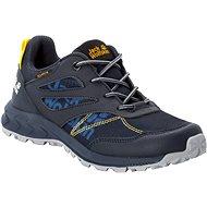 Jack Wolfskin Woodland Texapore low K modrá/žlutá EU 33 / 200 mm - Trekové boty