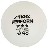 Stiga Perform ***, ITTF, bílé, 3 ks - Míčky na stolní tenis