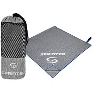 SPRINTER ručník z mikrovlákna 100x160 cm, šedo-modrý - Ručník