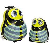 Dětský kufr s batohem T-class 3936 , 25l + 15l (včelka-žlutočerná)