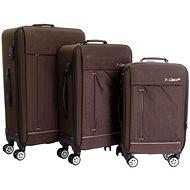 Set of 3 suitcases T-class 352, M, L, XL, TEXTILE+GIFT, (brown)