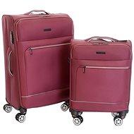 Sada 2 kufrů T-class CTS 0010, vel. S, L, TEXTIL, TSA zámek, (vínová)
