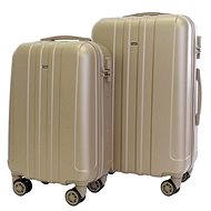Set of 2 suitcases T-class 902, ABS, brake, M, L, (champagne)