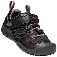 Keen Chandler CNX Children raven/fiery red - Trekové boty