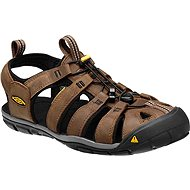 Keen Clearwater CNX Leather M dark earth/black EU 44 / 273 mm - Sandály