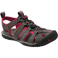 Keen Clearwater CNX Leather W Magnet/Sangria EU 37.5/235mm - Sandals
