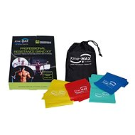 KINE-MAX PROFESSIONAL RESISTANCE BAND KIT - SET POWER GUM - LEVEL 1-4 - Exercise band