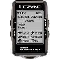 Lezyne Super GPS HR Loaded Black - Cyklocomputer