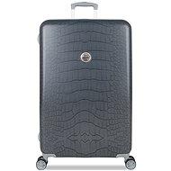 Suitsuit Grey Diamond Crocodile L - Cestovní kufr s TSA zámkem