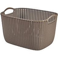 Curver Knit košík 19L hnědý - Úložný box
