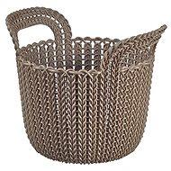 Curver Knit košík kulatý 3L hnědý - Úložný box