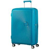American Tourister Soundbox Spinner 77 Exp Summer Blue - Cestovní kufr s TSA zámkem