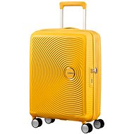 American Tourister SoundBox Spinner 55 Exp Golden Yellow - Suitcase with TSA-Approved Lock