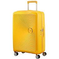 American Tourister Soundbox Spinner 67 Exp Golden Yellow - Cestovní kufr s TSA zámkem