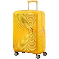 American Tourister Soundbox Spinner 77 Exp Golden Yellow - Cestovní kufr s TSA zámkem