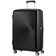 American Tourister SoundBox Spinner 77 Exp Bass Black - Suitcase with TSA-Approved Lock