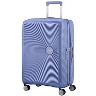 American Tourister SoundBox Spinner 67 Exp Denim Blue - Suitcase with TSA-Approved Lock