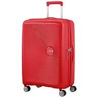 American Tourister Soundbox Spinner 67 Exp Coral Red - Cestovní kufr s TSA zámkem