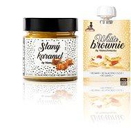 BIG BOY Slaný karamel 250g + White Brownie cestovní balení 70g