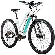 "Leader Fox Awalon 29"" White/Light Green - Electric Mountain Bike 29"""
