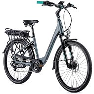 "Leader Fox Lotus 26"" Matte Grey/Light Green 16.5"" - City E-Bike"
