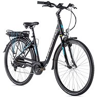 "Leader Fox Park City 28"" Matte Black/Blue 16.5"" - City E-Bike"