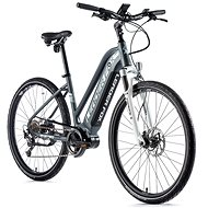 "Leader Fox Exeter, Women's, Matte Grey/White, 16.5"" - Cyclocross E-Bike"